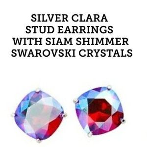 Siam shimmer Swarovski crystals earrings